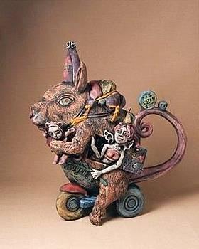 Teapot Rat by Kathleen Raven