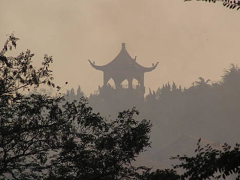 Alfred Ng - temple in the mist
