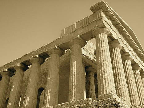 Temple of Concordia at Agrigento Sicily by Gina Clayton-Tarvin