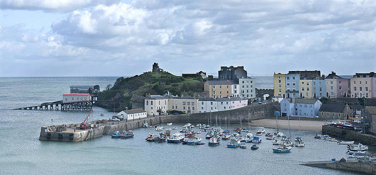 Steve Purnell - Tenby Harbour Pembrokeshire Panorama