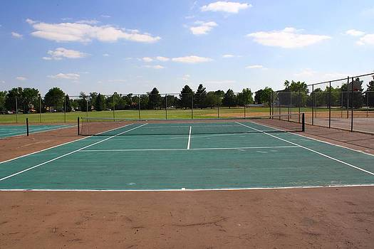 Tennis Court at Park   by Unknown
