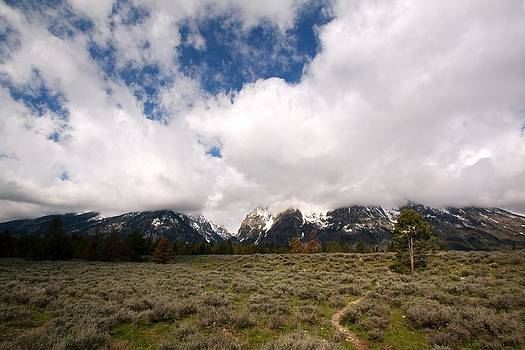 Tetons and Clouds by Amanda Kiplinger