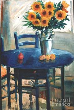 Tha Blue Table by Siabakoulis George