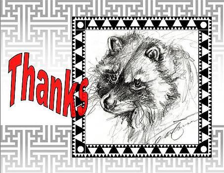 Thank You Card by Carol Allen Anfinsen