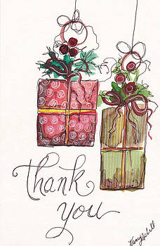 Thank You Ornaments by Michele Hollister - for Nancy Asbell