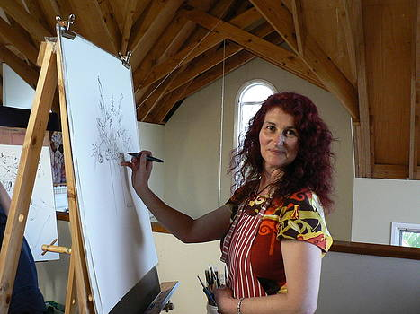 The artist at work by Louise Green