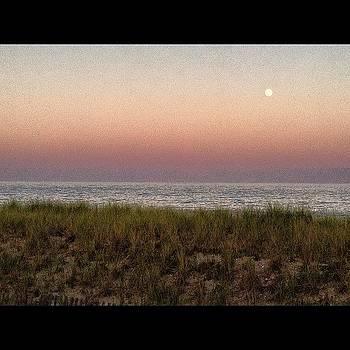 The Atlantic Ocean, Sky, Moon, Grass by Michael Misciagno