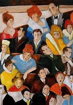 Sold/The Audience by Farid  Fakhriddin 70x50 cm