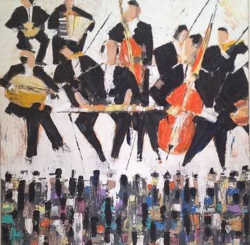 Sold/The Band  by Farid  Fakhriddin 80x80 cm