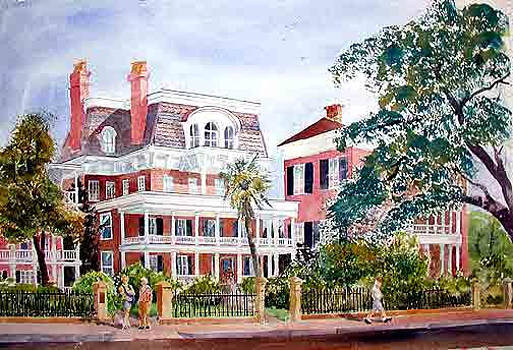 The Battery Charleston SC by Harding Bush
