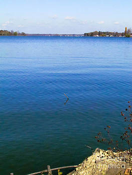 The blue of the lake  by Alisha Greer
