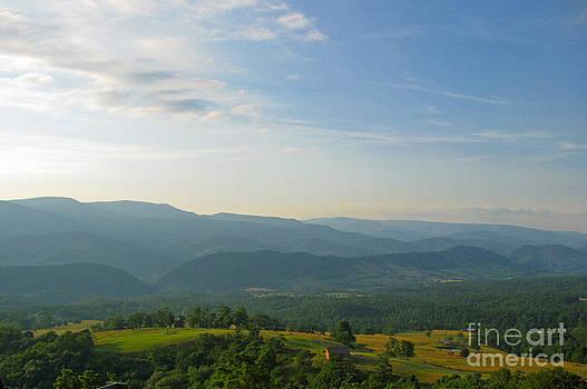 The Blue Ridge Mountains in July 01 by Ausra Huntington nee Paulauskaite