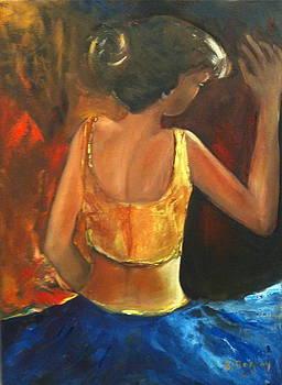 The blue skirt by Brigitte Roshay