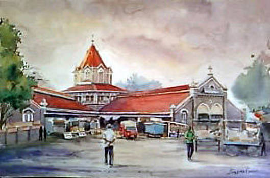 The Building of Vegetable Market by Seema Ghiya