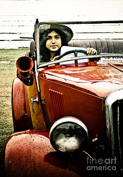 The car and the lady by Sourabh Bandyopadhyay