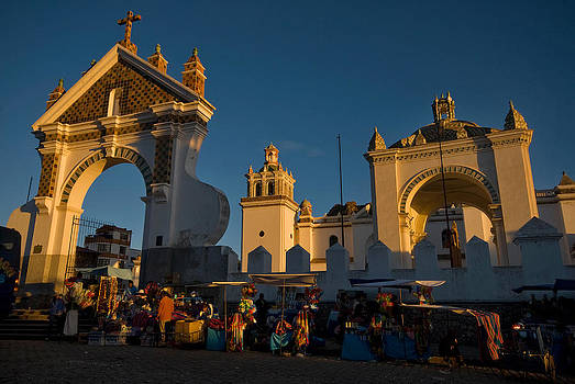 The Cathedral of the population of Copacabana. Republic of Bolivia. by Eric Bauer
