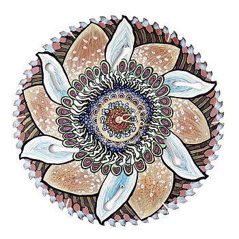 The Chris-Can-themum Wall Clock by Jessica Sornson