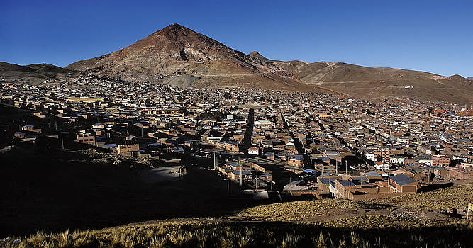 The city of Potosi and Cerro Rico. Republic of Bolivia. by Eric Bauer