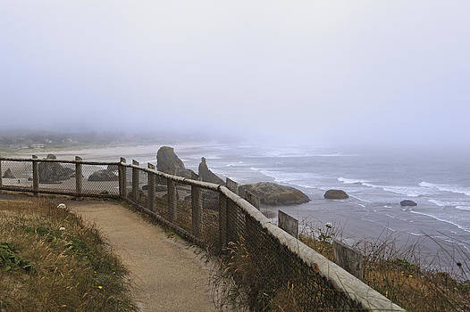 The Coquille River Light And North by Douglas Orton