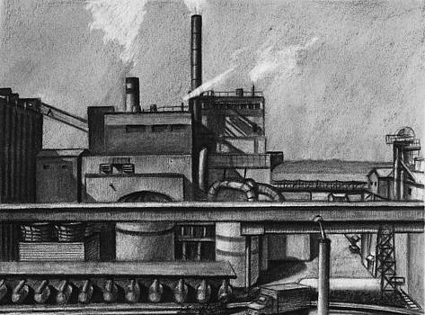 The Everett Paper Mill with Truck by RX Bertoldi