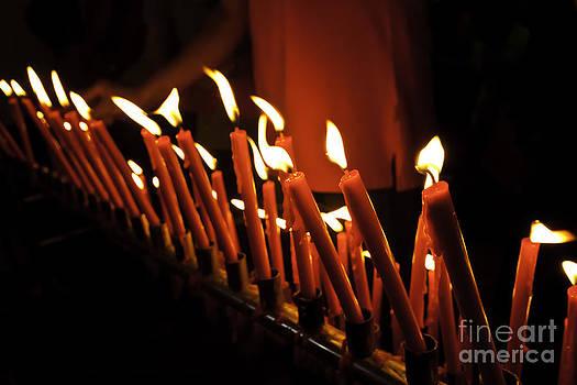 The flame by Wittaya Uengsuwanpanich