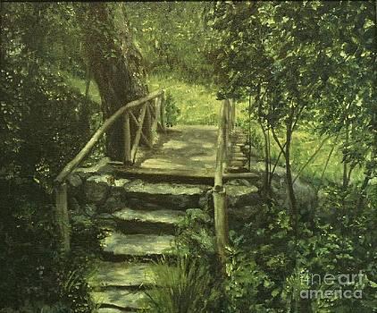 The Footbridge by Michael John Cavanagh