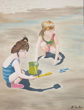 The Girls at the Beach by Al Fonollosa