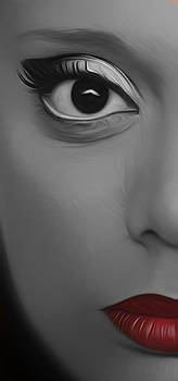 The Half Face In Black And White by Kavitha