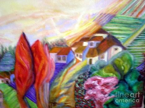 The happy village by Jenny Goldman
