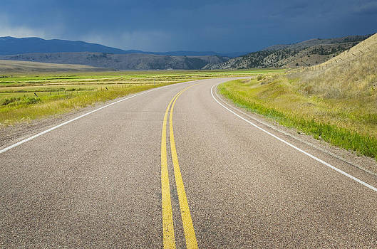 The Highway In Granite County Montana by Alan Majchrowicz