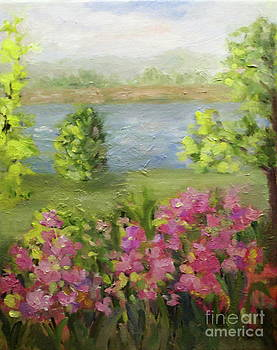 The Hudson from the Cloisters by Patsy Walton