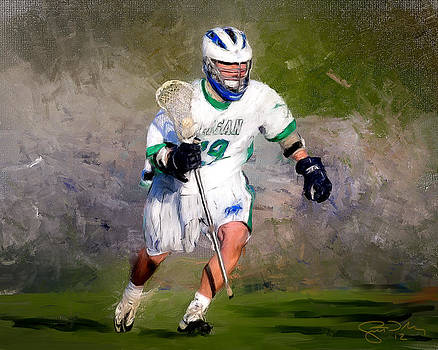The Lacrosse Player by Scott Melby