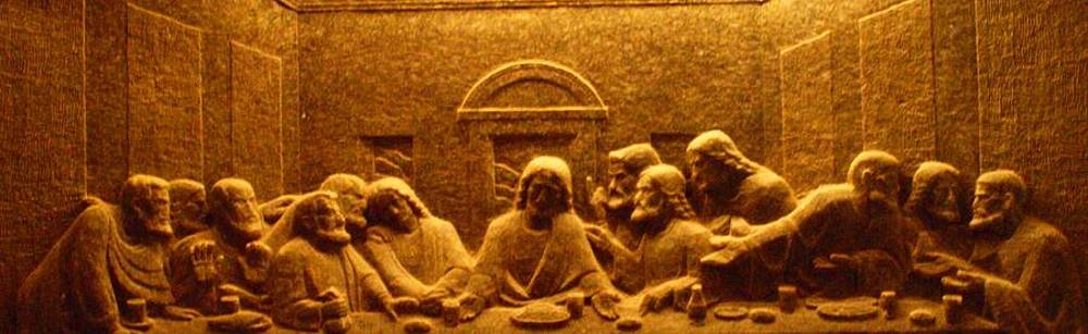 Tammy Bullard - The Last Supper Salt Carving