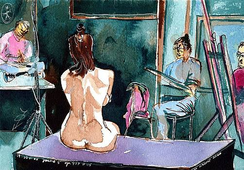 Ion vincent DAnu - The Nude Drawing Class