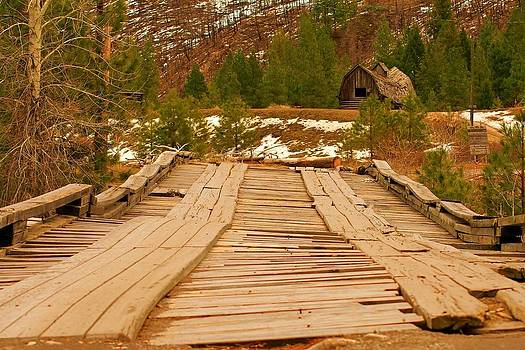 The Ol' Bridge Over Lolo Creek Montana by William Kelvie