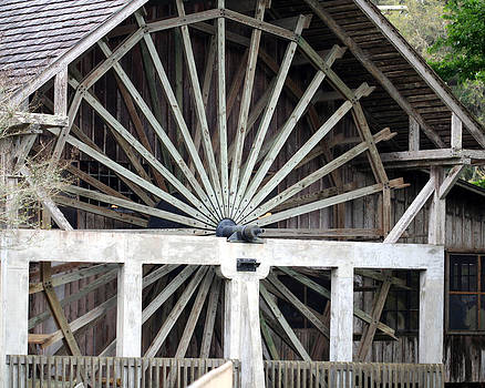 The Old Waterwheel by April Wietrecki Green