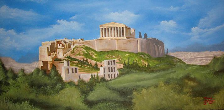 The Parthenon by Justin  Dobbs