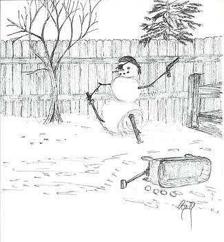 The Pirate In My Backyard - Sketch by Robert Meszaros