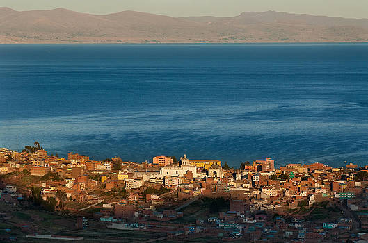 The population of Copacabana on the shores of Lake Titicaca. Republic of Bolivia. by Eric Bauer