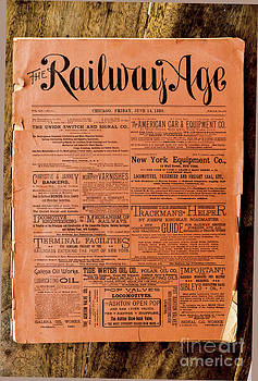 Roy Foos - The Railway Age June 14 1889 Whole No 679 Front Cover