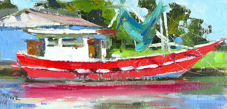 The Red Shrimper by Judy Crowe