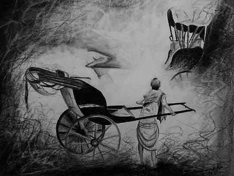 The Rikshaw Puller by Shankhadeep Bhattacharya