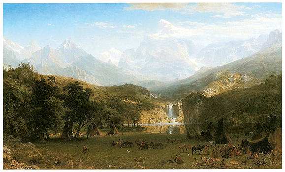 Albert Bierstadt - The Rocky Mountains Lander