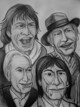 The Rolling Stones Black and White by Pete Maier