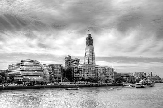 The Shard Under Construction by Mike Gorton