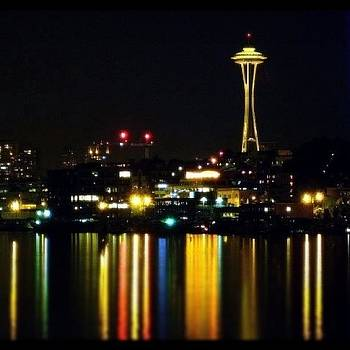 The Space Needle and Lake Union by Chris Fabregas