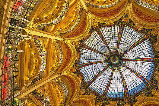 The Stained Glass Dome Of Galleries by Tatiana Boyle