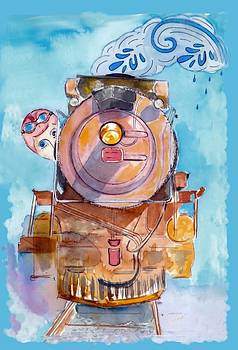 The Steam Train by Myrna Migala