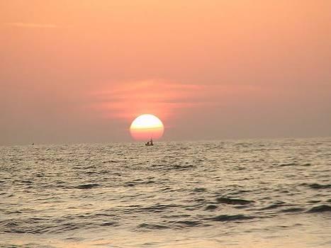 The Sun before it sets by Vallari Pradhan