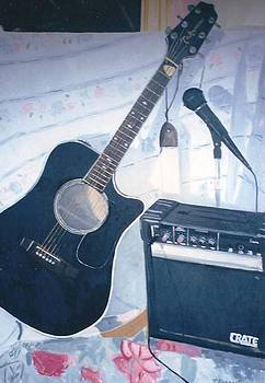 The Takamine and Amplifier by Terry Forrest
